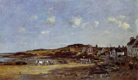 Eugene Boudin - The Harbor of Portrieux