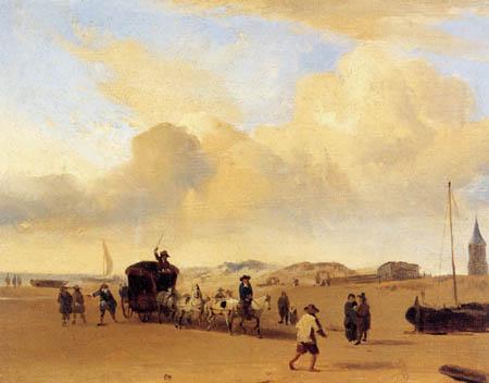 Eugene Boudin - On the beach of Scheveningen