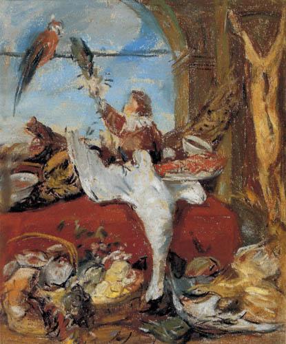 Eugene Boudin - In the studio of Frans Snyders