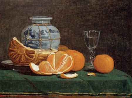Eugene Boudin - Still Life with Oranges