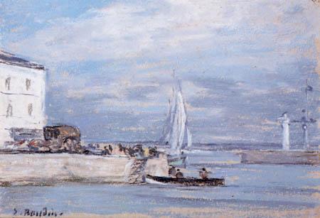 Eugene Boudin - Hafeneinfahrt von Honfleur