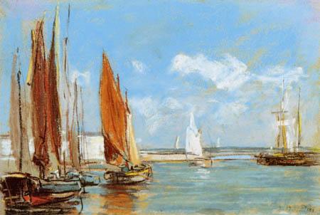 Eugene Boudin - Sailingvessels, Honfleur