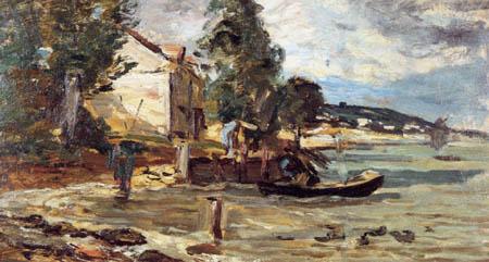 Eugene Boudin - Bay near Poudreux