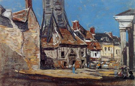 Eugene Boudin - St. Catherinenplatz in Honfleur