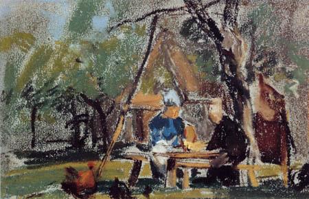 Eugene Boudin - Trinker unter Bäumen, St. Simeon