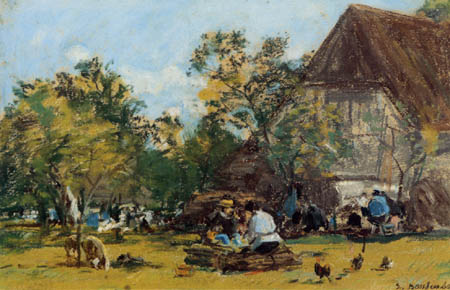 Eugene Boudin - A farm, St.Simeon