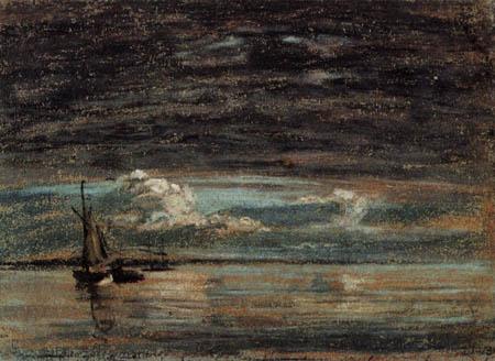 Eugene Boudin - Overcast sky