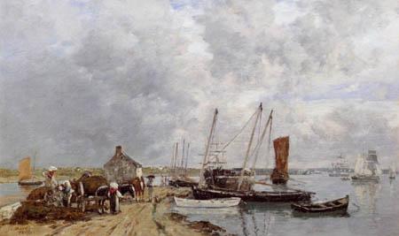 Eugene Boudin - Riviere de Landerneau