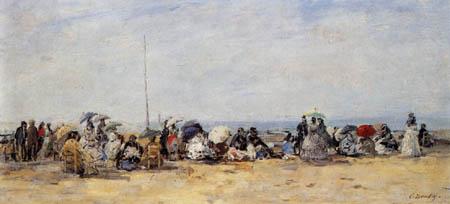 Eugene Boudin - Strandszene