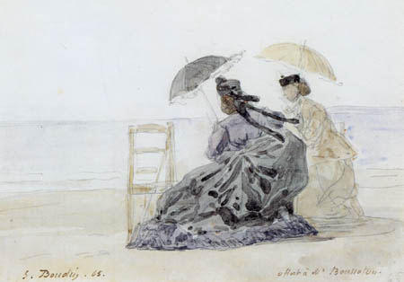 Eugene Boudin - Two woman on the beach
