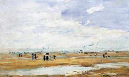 Eugene Boudin - The Beach of Deauville