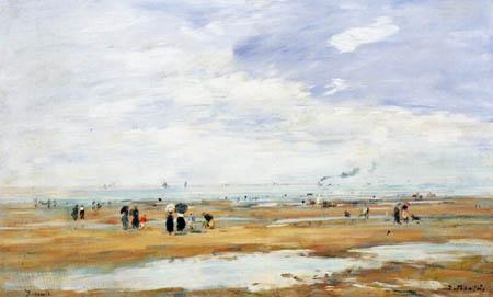 Eugene Boudin - Der Strand von Deauville