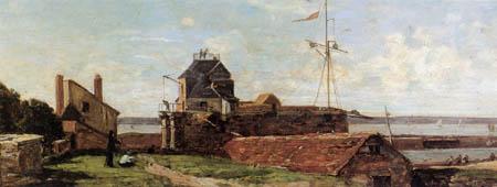 Eugene Boudin - La Tour Francois-I au Havre