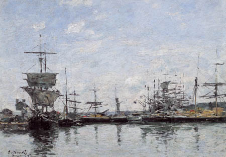 Eugene Boudin - Port of Deauville