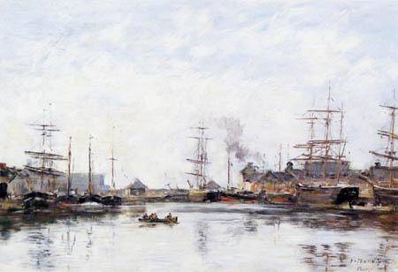 Eugene Boudin - Hafenbecken von Fecamp