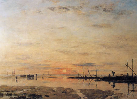Eugene Boudin - Sunset, Saint Adresse