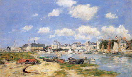 Eugene Boudin - View of Trouville