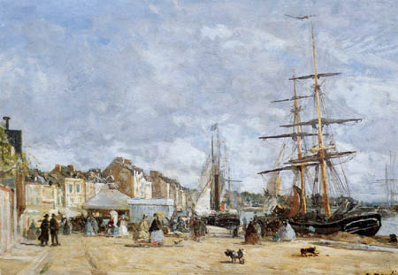 Eugene Boudin - The Railway Station, Trouville