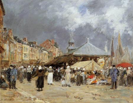 Eugene Boudin - Markt in Trouville
