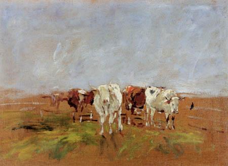 Eugene Boudin - Kühe auf der Weide