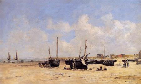 Eugene Boudin - The Berck Beach at Low Tide