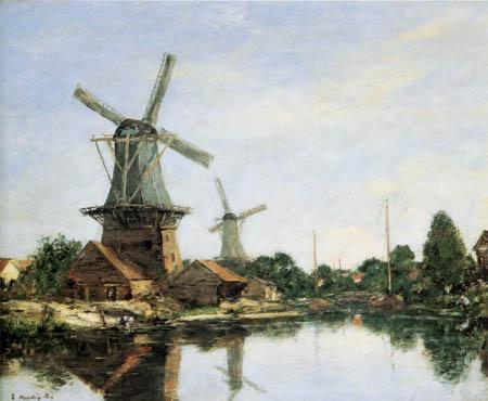 Eugene Boudin - Mill near Dordrecht