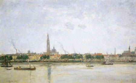 Eugene Boudin - View of Anvers