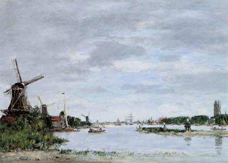 Eugene Boudin - Maas near Dordrecht