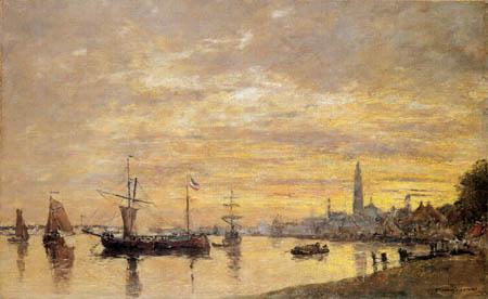 Eugene Boudin - Der Hafen von Antwerpen
