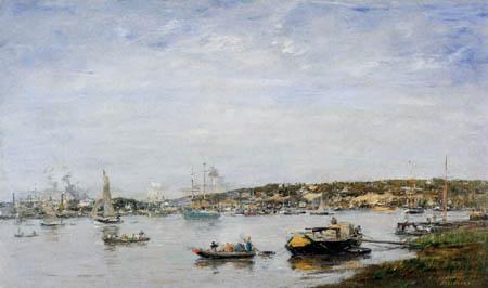 Eugene Boudin - Port of Bordeaux