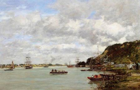 Eugene Boudin - Garonne near Lormont