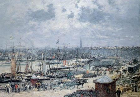 Eugene Boudin - Port des Bordeaux