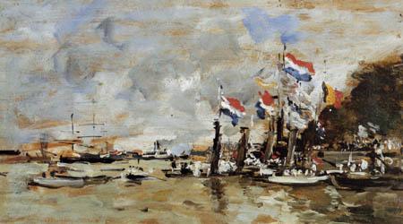 Eugene Boudin - Regatta bei Anvers