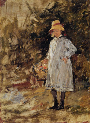 Eugene Boudin - Portrait of a little girl