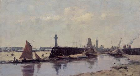Eugene Boudin - The Harbor of Trouville