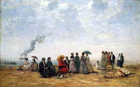 Eugene Boudin - Figures at the beach