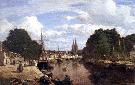 Eugene Boudin - Der Hafen von Quimper