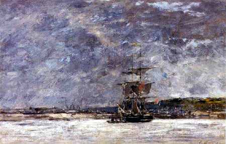 Eugene Boudin - The coast of Brest