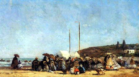 Eugene Boudin - The coast at Trouville