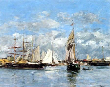 Eugene Boudin - Der Hafen von Trouville bei Flut