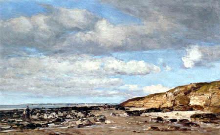 Eugene Boudin - Trouville, Coast and Rocks
