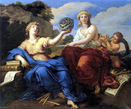 Louis de Boullogne - Urania and Melpomene
