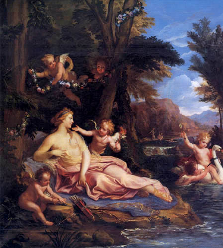 Louis de Boullogne - Venus, Hymen and the Cupids