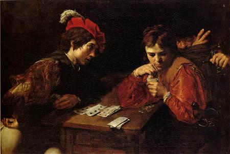 Valentin de Boulogne - The  cardsharper