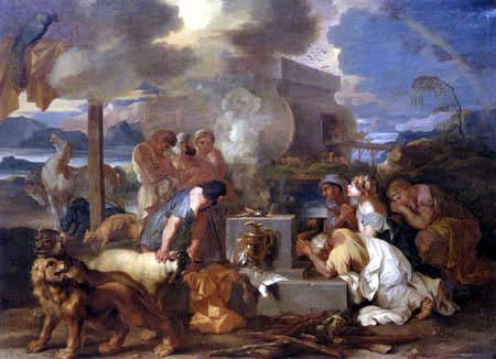Sébastien Bourdon - Sacrifice de Noé