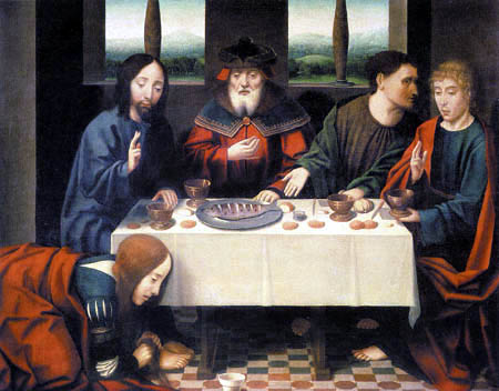 Dieric (Dirk) Bouts - Christ in the house of Simon the Pharisee