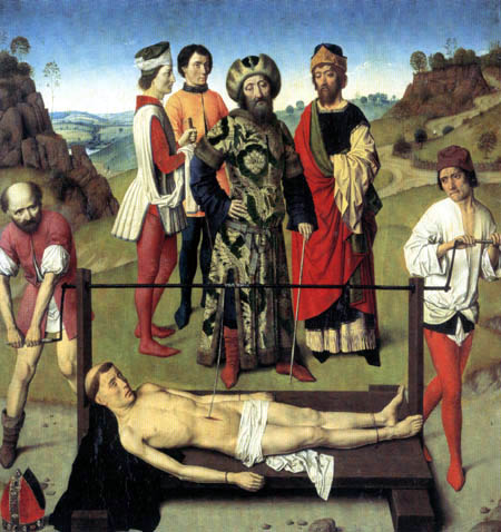 Dieric (Dirk) Bouts - Triptych of the Martyrdom of St. Erasmus, Middle Part