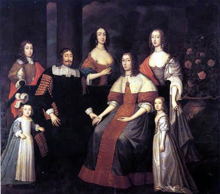 Edward Bower - Familienporträt von William Lenthall