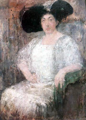 Olga Boznanska - La autrice française Gabrièle Reval