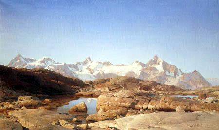 Eugen Bracht - Aus den Walliser Alpen